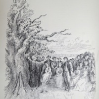 """The First Sermon in Nutfield""  (illustration)"